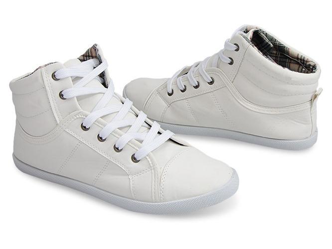 Białe ugly shoes na grubej podeszwie Lexi