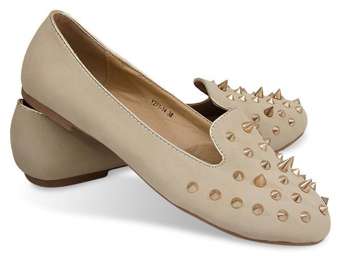 Białe ugly shoes na płaskiej podeszwie Imagine