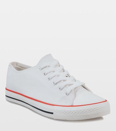 Białe zdobione sneakersy Pinnie