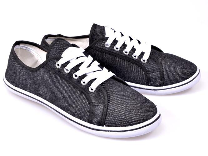 Czarne sandały na niskim słupku Black Night